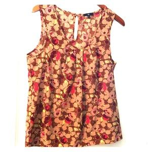 GAP Sleeveless Floral Drapey Top